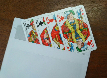 It's a message for You - traditional pictures in playing cards...