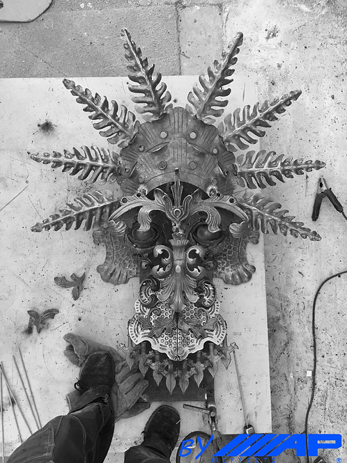 Wall Sculpture Bali Mask - Hand made sculptures by Anthony Platt