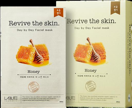 LABUTE Маска тканевая восстанавливающая с экстрактом мёда Revive the skin
