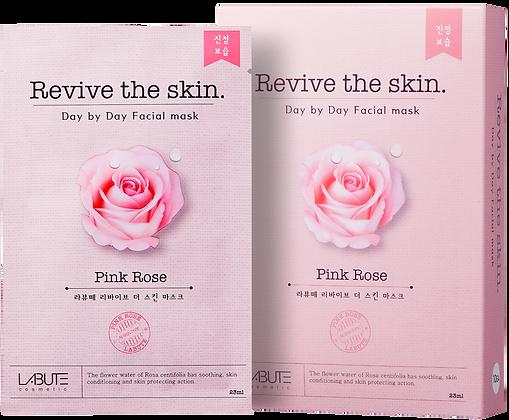 LABUTE Маска тканевая восстанавливающая с розовой водой Revive the skin
