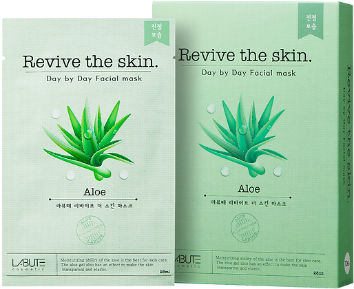 LABUTE Маска тканевая восстанавливающая с экстрактом алоэ вера Revive the skin