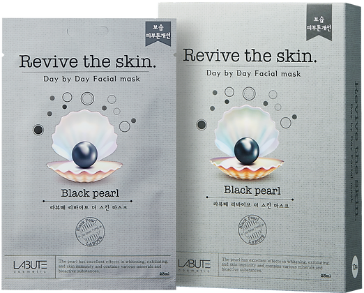 LABUTE Маска тканевая восстанавливающая с экстрактом жемчуга Revive the skin
