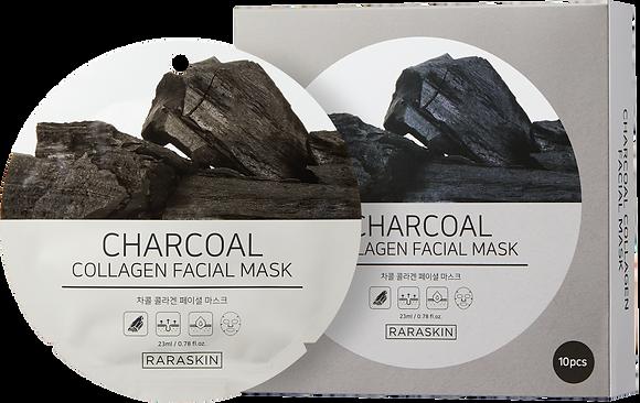 RARASKIN  Маска тканевая для лица с экстрактом древесного угля