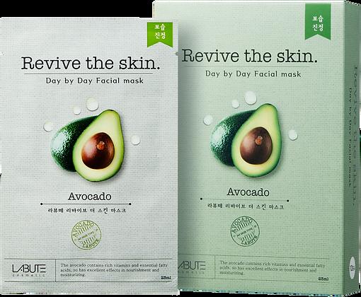 LABUTE Маска тканевая восстанавливающая с авокадо  Revive the skin