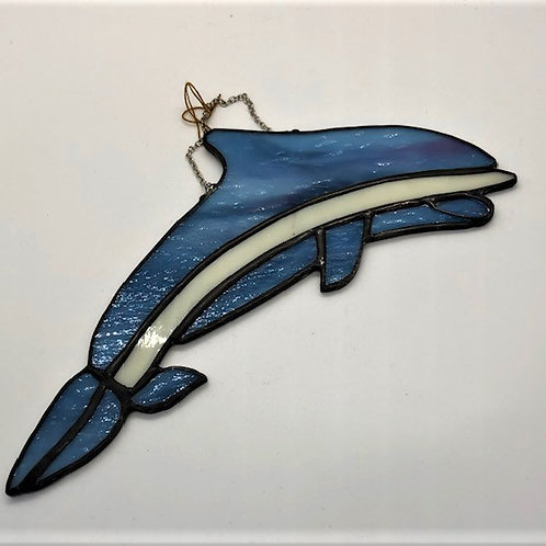 Beautiful Stained Glass Dolphin