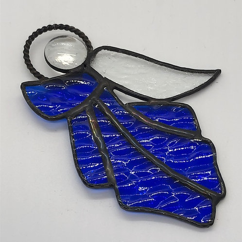 Royal Blue Stained Glass Angel