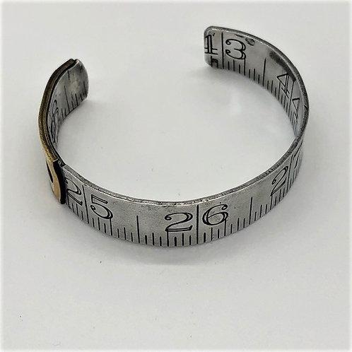 Vintage Carpenter Ruler Cuff Bracelet