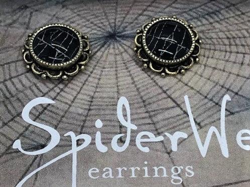 Spider Web Post Earrings
