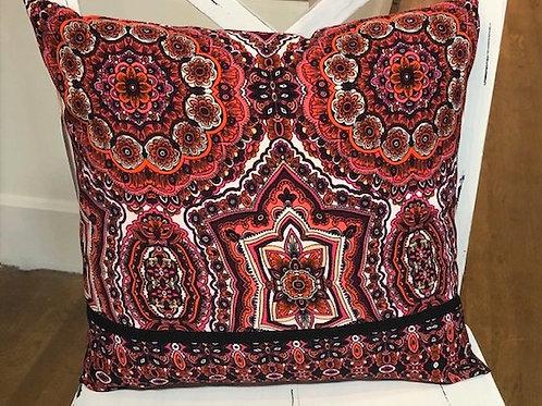 "Beautiful handcrafted 16x16"" Pillow Cotton in beautiful mosaic pattern"