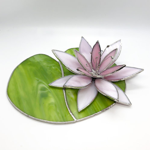 Two Piece Water Lily Stained Glass