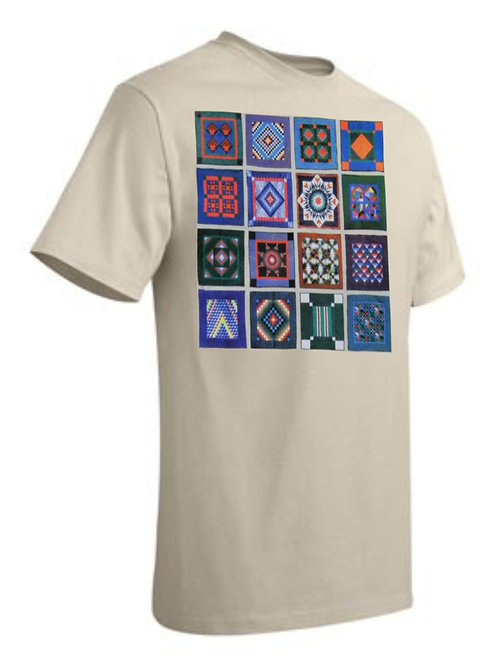 Amish Quilts T-shirt Large Off-White