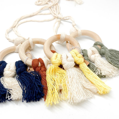 Small Wall Hanging Macramé w/ Essential Oil Bead