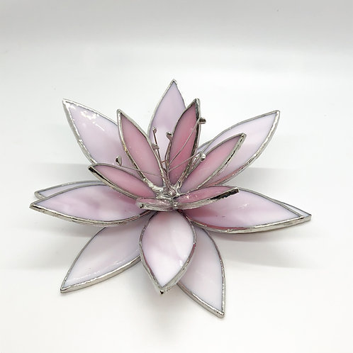 Beautiful Water Lily Stained Glass