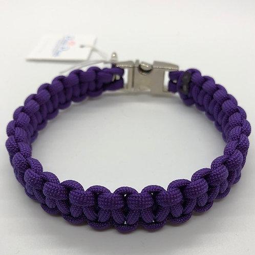 "Paracord Dog Collar Small 10"" Purple"
