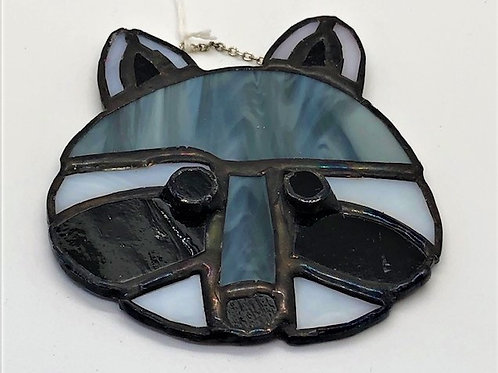 Stained Glass Raccoon Head