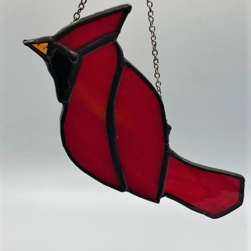 Small Stained Glass Cardinal