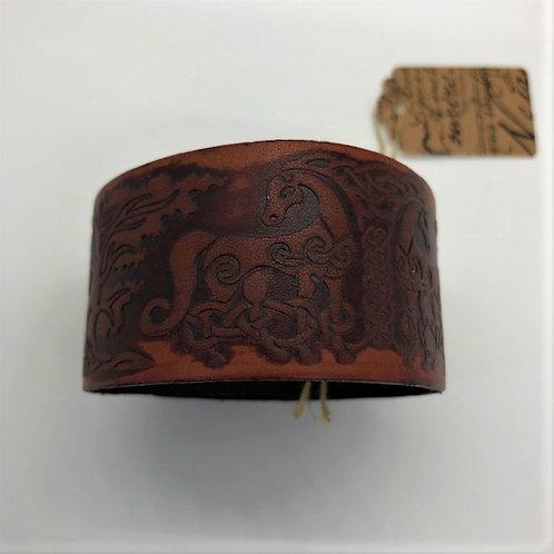 Norse Horse Leather Cuff