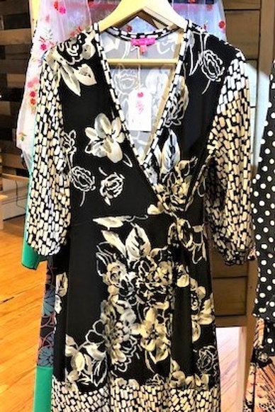 Bianca's Wrap Dress Black & White