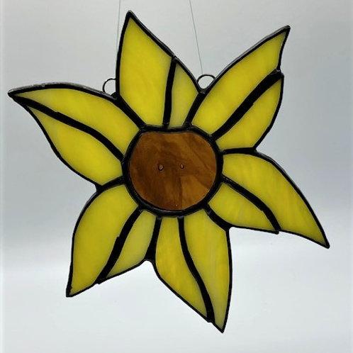 Beautiful Stained Glass Sunflower Suncatcher