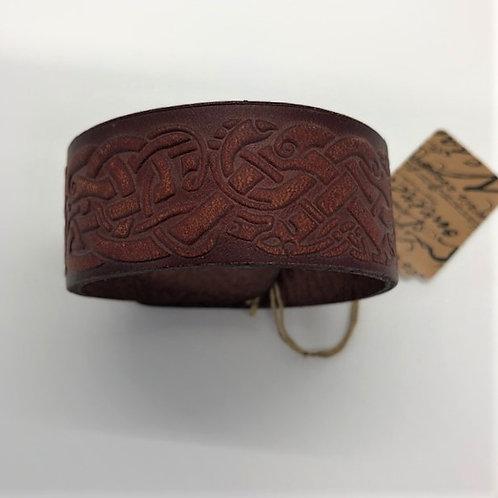 Celtic Leather Cuff
