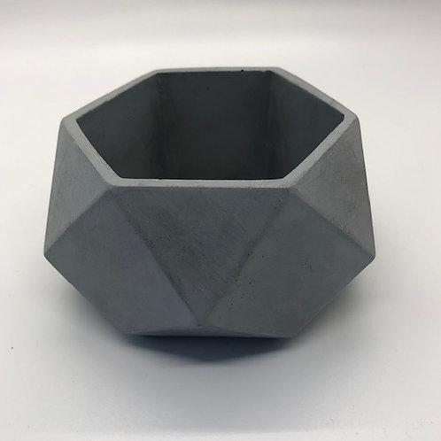 Concrete Geometric Planter Grey
