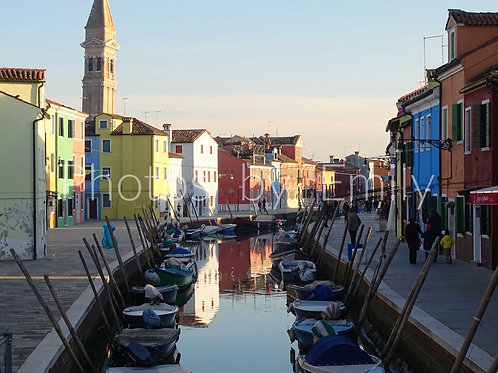 Painted Houses Photo from Burano, Italy