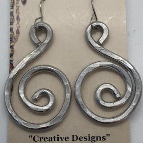 Fun, Lightweight Swirl Earrings