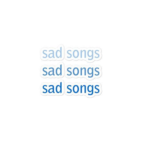 Sad Songs Sticker