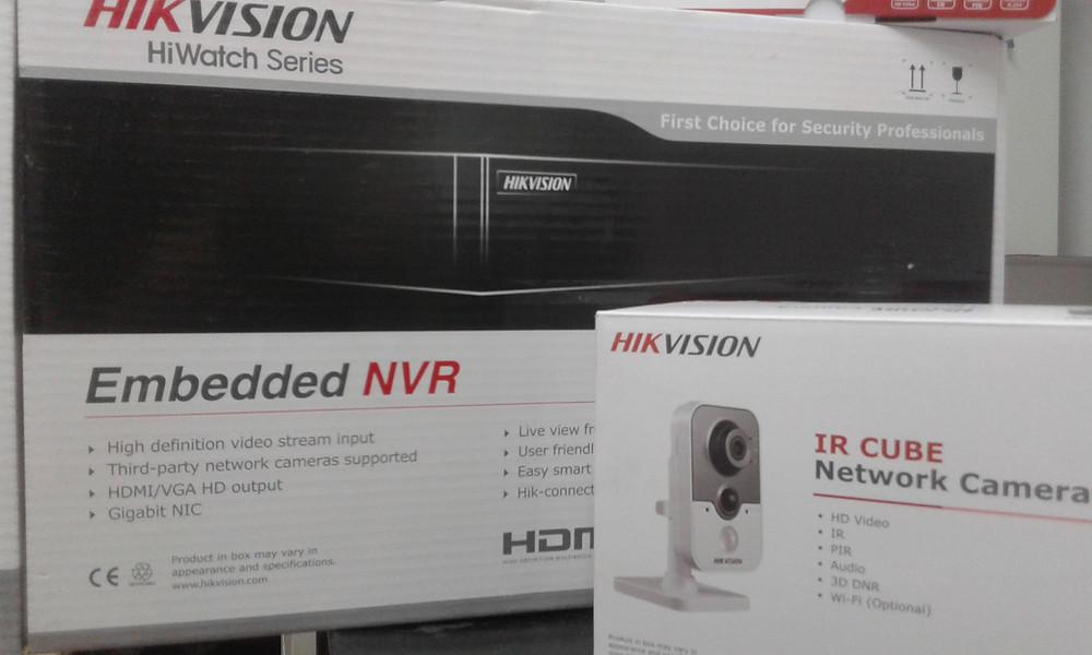 Hik Vision Embedded NVR & IR CUBE Network camera