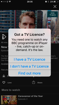 SMALL GLITCH IN IPLAYER: NOT MANY NOTICE