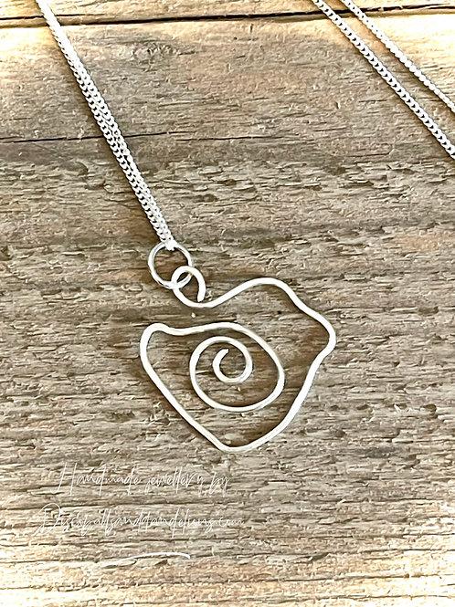 Handmade Sterling Silver Wire Little Bird Pendant