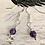 Thumbnail: Natural Gemstone Amethyst & Sterling Silver Drop Earrings