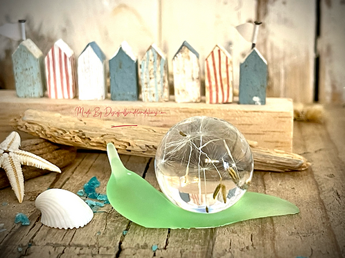 Reef The Sea Glass Snail Ornament Made By Discoballsanddandelions