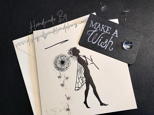 Handmade 'Make A Wish' Keepsake Card With Single Button Wish