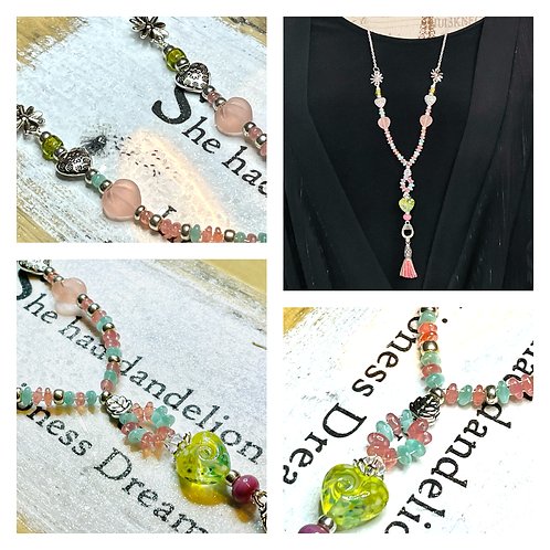 Artisan Pretty In Pastels Handmade Pendant