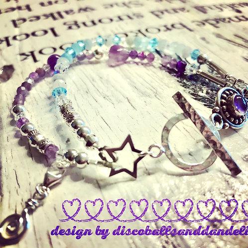 Discoballs and Dandelions Serenity Bracelet