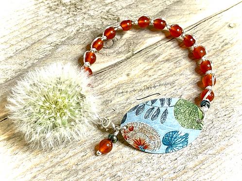 'Summer Dandelion' handmade artisan bracelet design