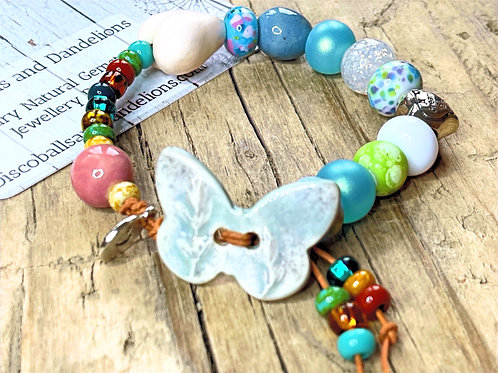 A Dream Is A Wish Your Heart Makes Natural Gemstone Bracelet