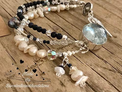 📿Luxury Artisan Design Natural Gemstone Dumortierite Bracelet Of Calm 📿