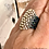 Thumbnail: Sterling Silver Bead Artisan Boho Handmade Seed Bead Ring