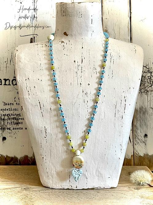 Sunshine Mala Style Necklace