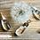 Thumbnail: Dandelion Wish Teardrop Wire Wrap Pendant