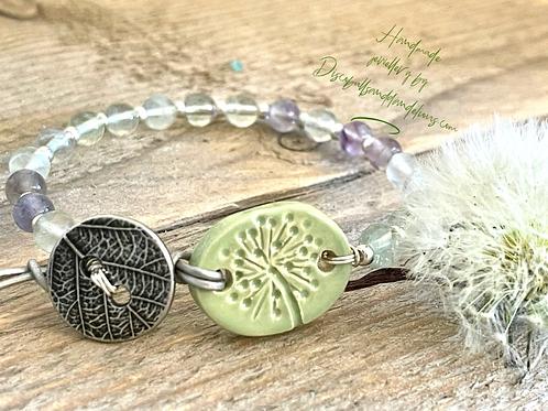 Dandelion Wish Fluorite Bracelet