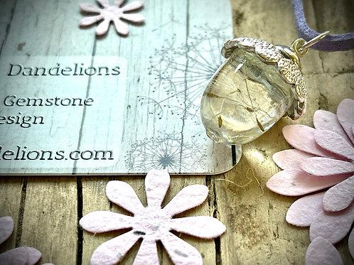 Dandelion Wish Acorn Pendant