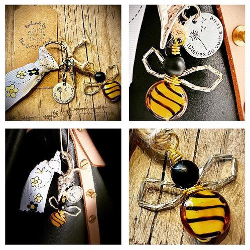 The Bumblebee Glass Bead Bag Charm/Keepsake