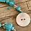 Thumbnail: Handmade Artisan Turquoise Ocean Inspired Bracelet