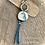 Thumbnail: Turquoise & Blue Goldstone Artisan Luxury Design Pendant