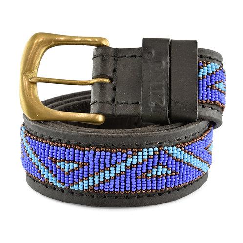 Läderbälte Kabaka blue | Zinj design