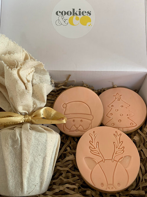 CHRISTMAS IN A BOX - 125GM PUD AND COOKIES