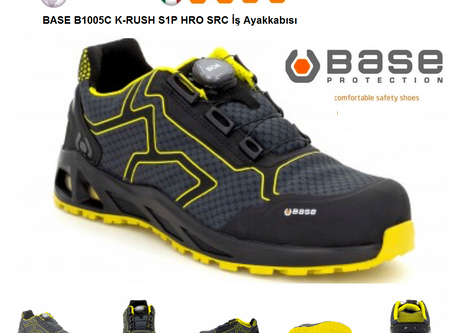 BASE  B1005C K-RUSH S1P HRO SRC İtalyan Outdoor İş Güvenlik Ayakkabısı